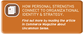 Uncommon Sense Article in Commerce Magazine